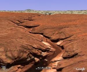 羚羊峡 - Google Earth