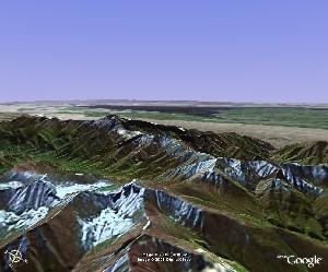 远眺博斯腾湖 - Google Earth
