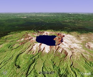 Heaven Lake of Mount Changbai - Google Earth