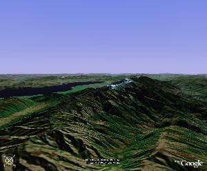 点苍山与洱海 - Google Earth