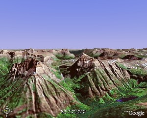 Glacier National Park - Google Earth