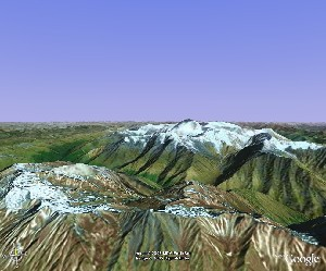 贡嘎山 - Google Earth