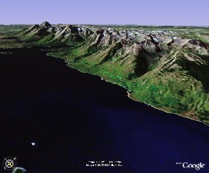 杰克逊湖和大提顿群山 - Google Earth