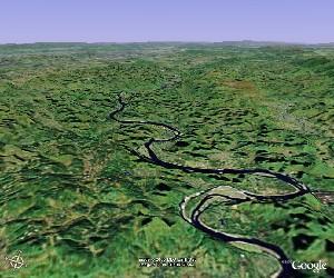 Guilin and Lijiang River - Google Earth