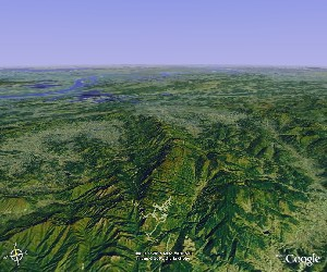 九华山 - Google Earth