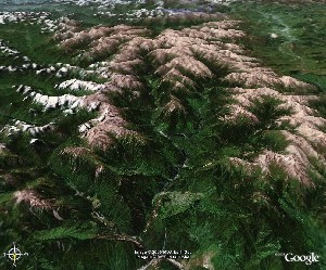 Jiuzhai Valley - Huanglong - Google Earth