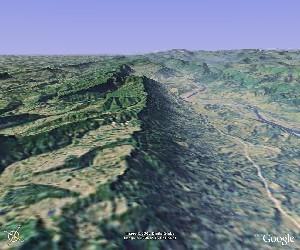 剑门蜀道 - Google Earth