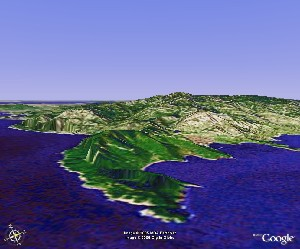 Mount Lao of Qingdao - Google Earth
