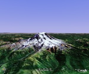 Mount Rainier National Park - Google Earth