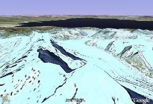 Namtso & Nyainqntanglha Mountains - Google Earth