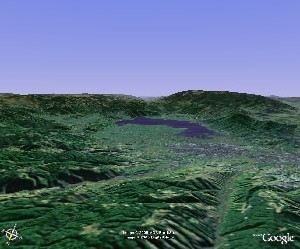 Lake Qiong & Mount Luoji - Google Earth