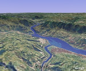 Three Gorges - Google Earth