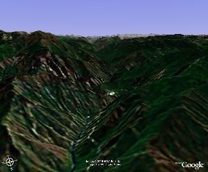 美洲杉和国王峡谷国家公园 - Google Earth