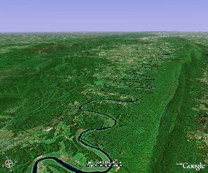 Shenandoah National Park - Google Earth