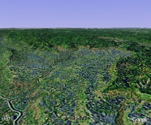 Simian Mountains - Google Earth