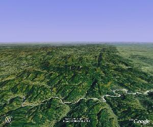 Mount Tianzhu - Google Earth