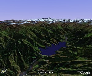 Heaven Lake of Celestial Mountains - Google Earth