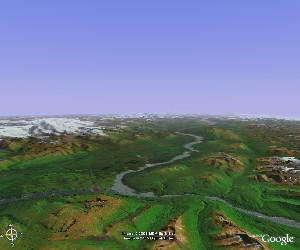 Wrangell - St. Elias - Google Earth