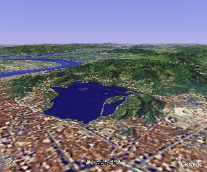 West Lake of Hangzhou - Google Earth