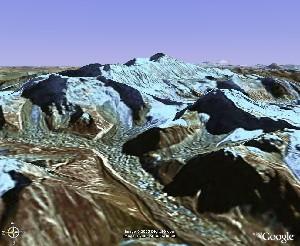 Shishapangma - Google Earth