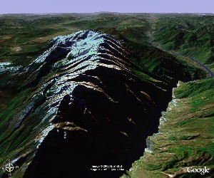 Jade Dragon Snow Mountain - Google Earth