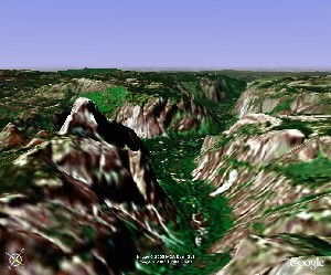 Yosemite National Park - Google Earth