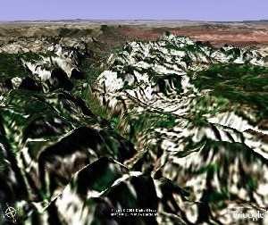 Zion National Park - Google Earth