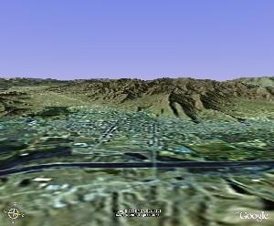 扎什伦布寺及日喀则市区 - Google Earth