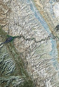 Capitol Reef National Park - Google Satellite Photo