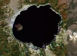 Crater Lake National Park - Google Satellite Photo
