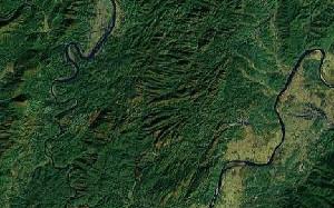 丹霞山 - Google卫星照片