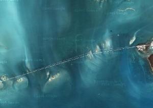 佛罗里达礁岛群 - Google卫星照片