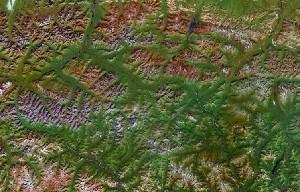 Gates of the Arctic National Park - Google Satellite Photo