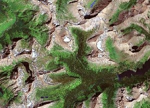 Glacier National Park - Google Satellite Photo