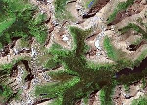 Glacier National Park - Google Satellite Photo