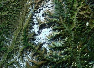 Minya Konka - Google Satellite Photo