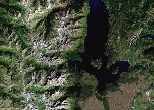 Grand Teton National Park - Google Satellite Photo