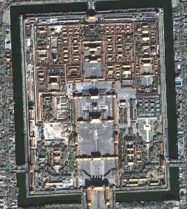 Imperial Palace in Beijing - Google Satellite Photo