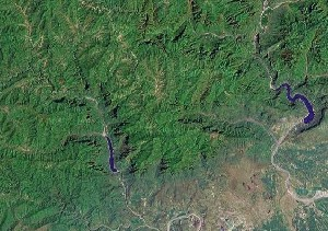 Mount Wangwu and Mount Yuntai - Google Satellite Photo