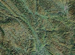 Huangguoshu Falls - Google Satellite Photo
