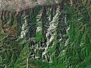 Mount Hua - Google Satellite Photo