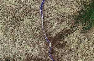 黄河壶口瀑布 - Google卫星照片