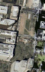 Independence Hall - Google Satellite Photo