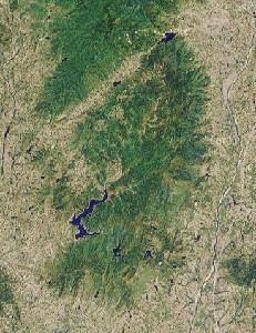 Mount Jigong - Google Satellite Photo