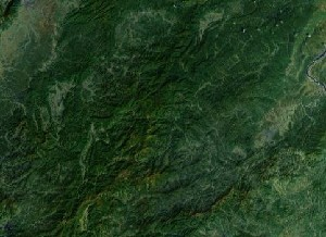Mount Jinggang - Google Satellite Photo