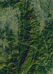 Mount Jiuhua - Google Satellite Photo