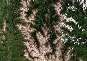 九寨沟 - Google卫星照片