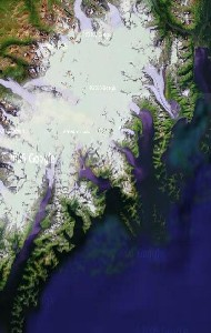 Kenai Fjords National Park - Google Satellite Photo