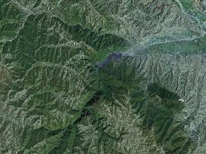 崆峒山 - Google卫星照片