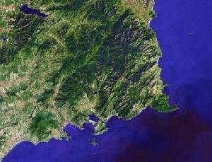 Mount Lao of Qingdao - Google Satellite Photo